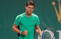 Matt Ebden in action at the Shanghai Masters, where he reached the quarterfinals; Getty Images