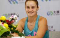 Ash Barty chats to the press after winning the WTA Elite Trophy in Zhuhai (Getty Images)