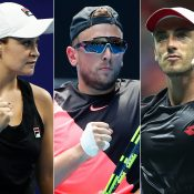 (L-R) Ash Barty, Dylan Alcott and John Millman; Getty Images