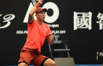 Ze Zhang in action in Zhuhai. Photo: Elizabeth Bai