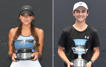 Anastasia Berezov (L) and Tai Sach were crowned winners of the 16/u Australian Championships (photos: Elizabeth Xue Bai)