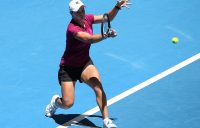 Ash Barty trains at the Hopman Cup, where she is representing Australia with Matt Ebden (Getty Images)