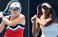 Kimberly Birrell (L) and Destanee Aiava have won through to the second round of the Brisbane International (photos: Elizabeth Xue Bai)