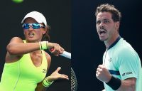 Alex Bolt (R) and Arina Rodionova are the No.1 seeds in the men's and women's AO Play-off draws (Getty Images)