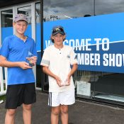 Charlie Camus (R) and Pavle Marinkov won the 12/u Australian Championships doubles title (photo: Elizabeth Xue Bai)