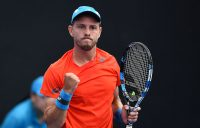 James Duckworth in action during his victory in the Australian Open Play-off final over Luke Saville (photo: Elizabeth Xue Bai)