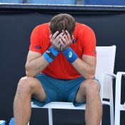 James Duckworth reacts after winning the Australian Open 2019 Play-off (photo: Elizabeth Xue Bai)