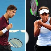 Thanasi Kokkinakis (L) and Destanee Aiava have qualified for the Brisbane International (Getty Images)