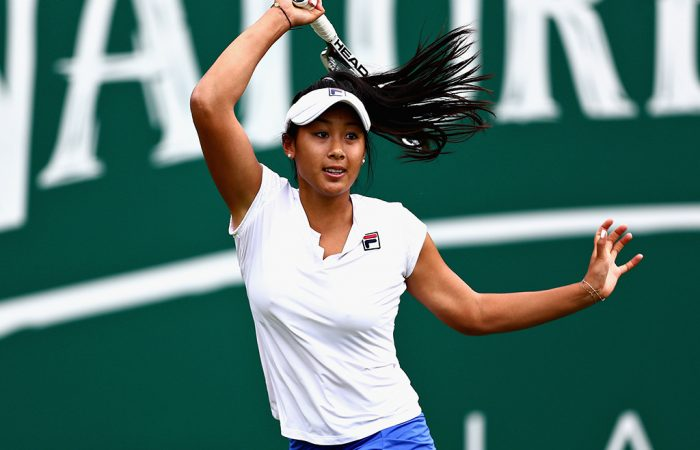 Priscilla Hon, pictured in qualifying in Birmingham, competed more regularly on the WTA tour in 2018 (Getty Images)
