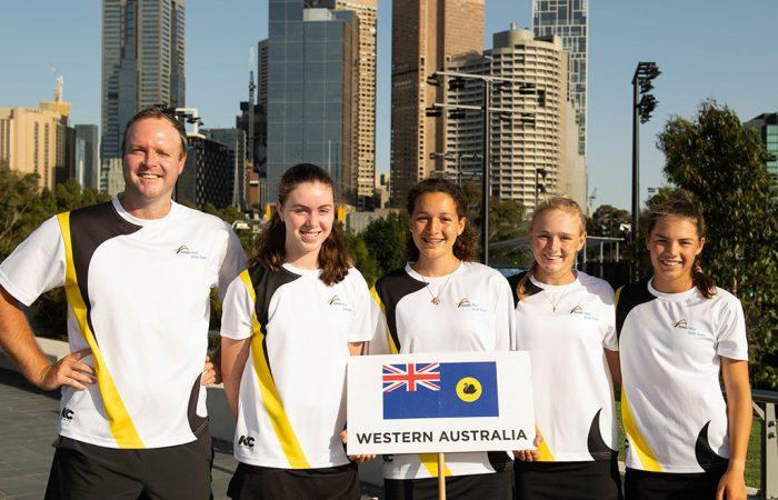 The West Australian 14/u girls team claimed the Mary Hawton Trophy at the December Showdown (photo: Elizabeth Xue Bai)