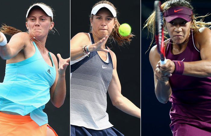 (L-R) Zoe Hives, Ellen Perez and Destanee Aiava have received main-draw wildcards for Australian Open 2019 (Getty Images)