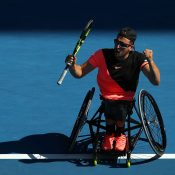 Dylan Alcott is shooting for a fifth straight Australian Open title (Getty Images)