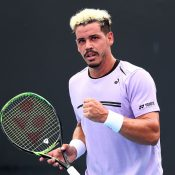 Alex Bolt in action during his first-round win over Alex Bolt at the Australian Open (Getty Images)