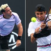 Alex Bolt (L) and Alexei Popyrin play their second-round matches on Day 4 at the Australian Open (Getty Images)