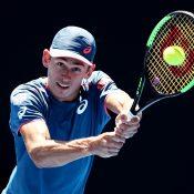 Alex De Minaur in action at the Sydney International (Getty Images)