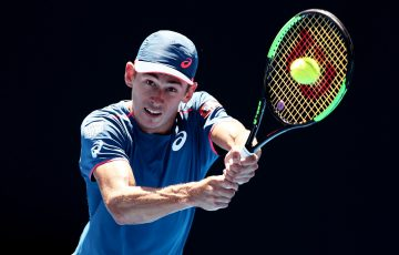 Alex De Minaur in action at the Sydney International (Getty Images)