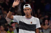 Alexei Popyrin waves to the crowd after getting past Dominic Thiem in the second round of Australian Open 2019 (Getty Images)