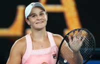 Ash Barty celebrates her third-round victory over Maria Sakkari at the Australian Open (Getty Images)