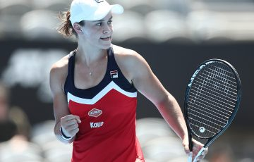 Ash Barty clinched a win over Jelena Ostapenko to advance to the second round of the Sydney International (Getty Images)