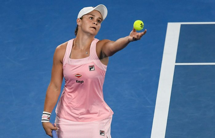 Ash Barty in action at Australian Open 2019 (Getty Images)