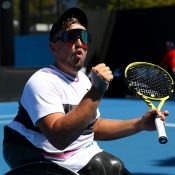 Dylan Alcott in action in the quad singles tournament at Australian Open 2019 (Getty Images)