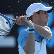 Matt Ebden in action during his first-round victory at the Australian Open (Getty Images)