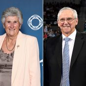 Roy Emerson (R) and Judy Dalton were honoured on Australia Day 2019 with Order of Australia medals (Getty Images)