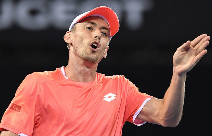 John Millman in action at the Brisbane International (Getty Images)
