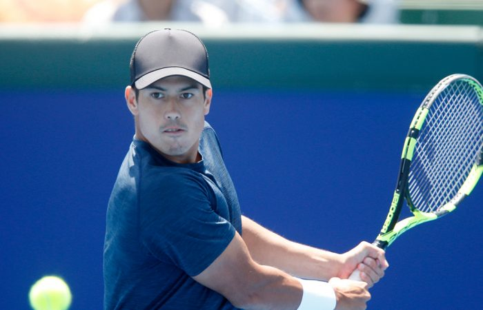Jason Kubler in action at the Kooyong Classic in Melbourne (Getty Images)