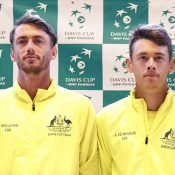 John Millman (L) and Alex De Minaur will represent Australia in the singles rubbers on  Day 1 of Australia's Davis Cup tie against Bosnia & Herzegovina (Getty Images)
