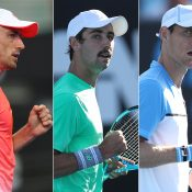 (L-R) John Millman, Jordan Thompson and Matt Ebden (Getty Images)