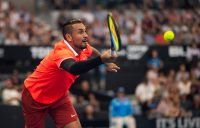 Nick Kyrgios in action at the Brisbane International (Getty Images)