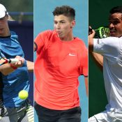 (L-R) Marc Polmans, Alexei Popyrin and Alex Bolt have received Australian Open 2019 main-draw wildcards (Getty Images)