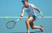 Sam Stosur trains at Melbourne Park at the Australian Open (Getty Images)