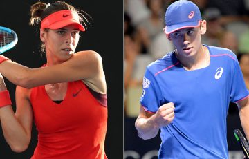 Ajla Tomljanovic (L) and Alex De Minaur advanced to the quarterfinals of the Brisbane International (Getty Images)