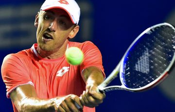 John Millman in action at the ATP tournament in Acapulco, Mexico (Getty Images)