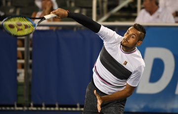 Nick Kyrgios in action at the Delray Beach Open (photo: Peter Staples/ATPTour.com)