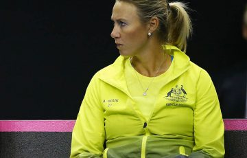 WOLLONGONG, AUSTRALIA - APRIL 21:  Australian captain Alicia Molik; Getty Images