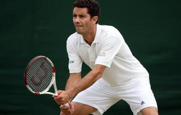 Andre Sa competes at Wimbledon (Getty Images)