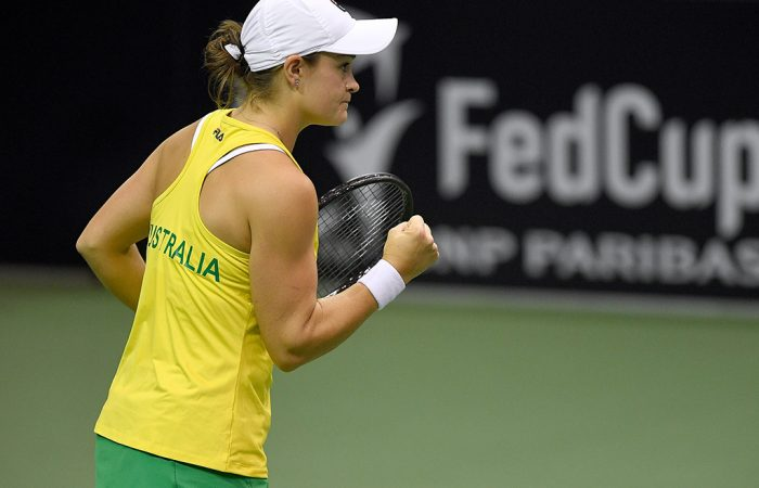 Ash Barty has been nominated for a Fed Cup Heart Award (Getty Images)