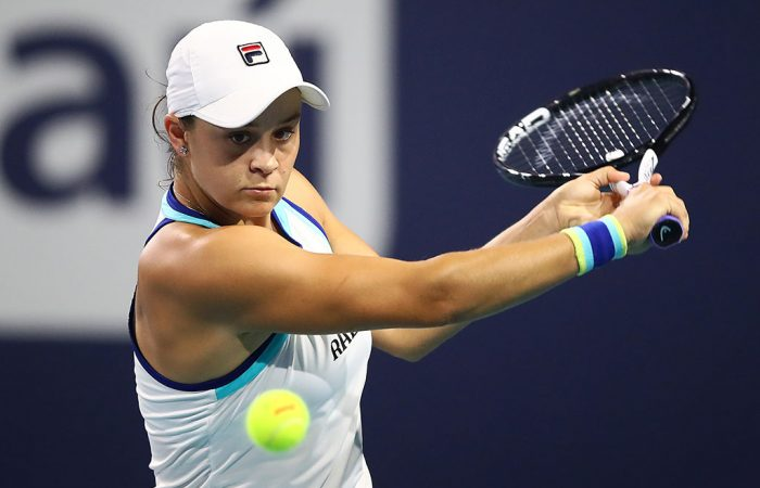Ash Barty in action at the Miami Open (Getty Images)