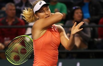 Daria Gavrilova in action during her first-round victory over Dayana Yastremska at Indian Wells (Getty Images)