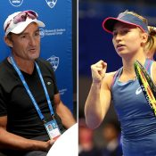 David Taylor (L) will coach Daria Gavrilova, beginning in the European clay-court season (Getty Images)