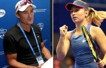 David Taylor (L) will coach Daria Gavrilova, beginning in the European clay-court season (Getty Images)