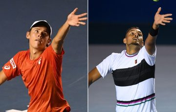 Alex De Minaur (L) and Nick Kyrgios (Getty Images)