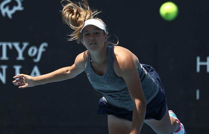 Ellen Perez in action at the Hobart International in January 2019 (Getty Images)