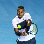 Nick Kyrgios in action against Rafael Nadal in the second round of the ATP tournament in Acapulco, Mexico (Getty Images)