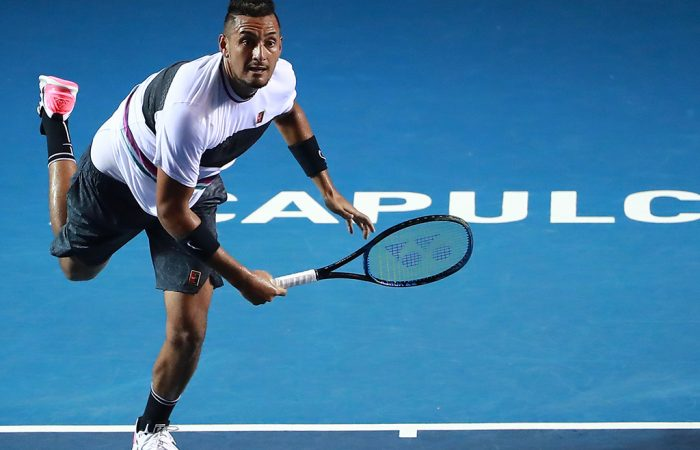 Nick Kyrgios in action at the ATP tournament in Acapulco (Getty Images)