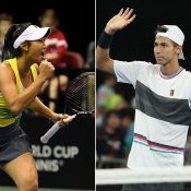 Priscilla Hon (L) qualified for Indian Wells while Alexei Popyrin (R) advanced to the final round  (Getty Images)
