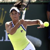 Priscilla Hon in action at Indian Wells (Getty Images)